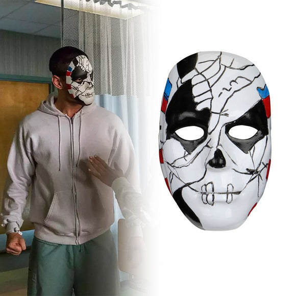 The Punisher 2 Billy Russo Cosplay Mask Plastic Costume Props Halloween Masquerad Mask Unisex Adult Coser - BFJ Cosmart