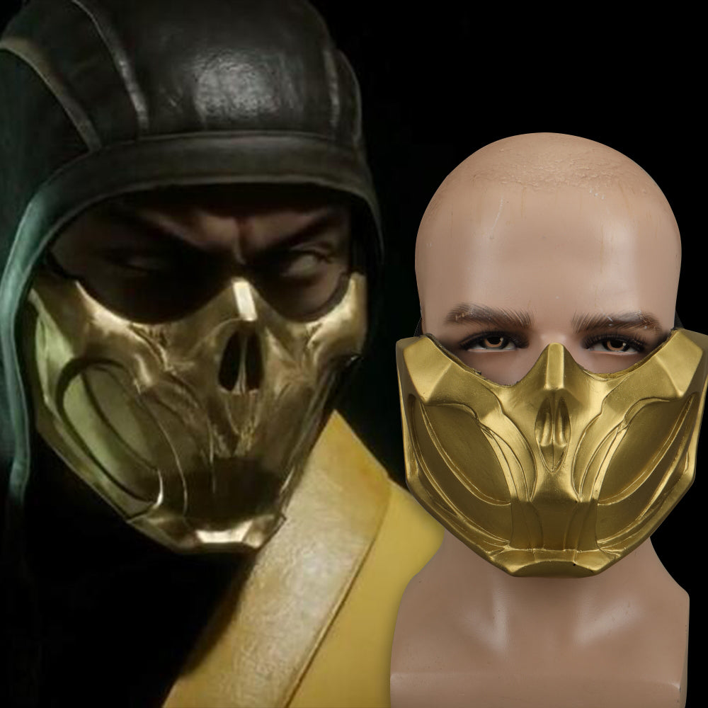 2019 New Mortal Kombat X Scorpion Hanzo Hasashi Sandal Wood Mask