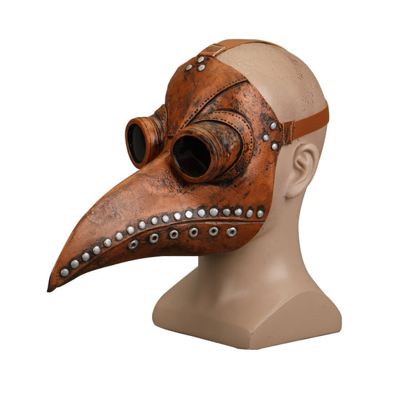 Steampunk Plague Doctor Mask Latex Bird Beak Doctor Mask Long Nose Masks  Cosplay Costume Funny Face Wear Halloween Party New