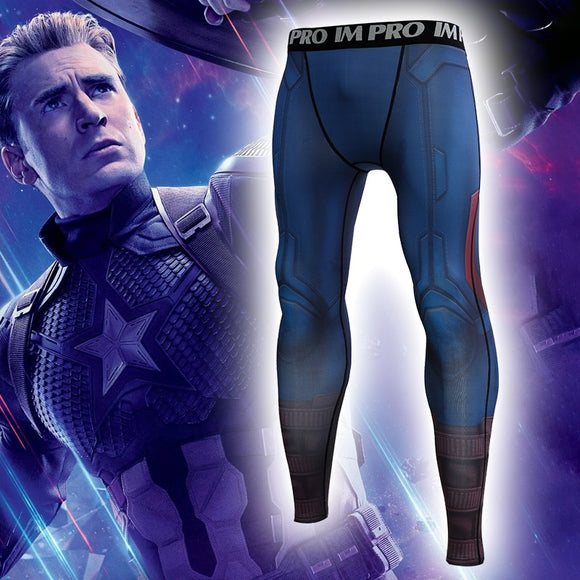 Avengers: Endgame 4 Costume Captain America Pants Steve Rogers Costumes Tights Sports Halloween Party Prop - BFJ Cosmart