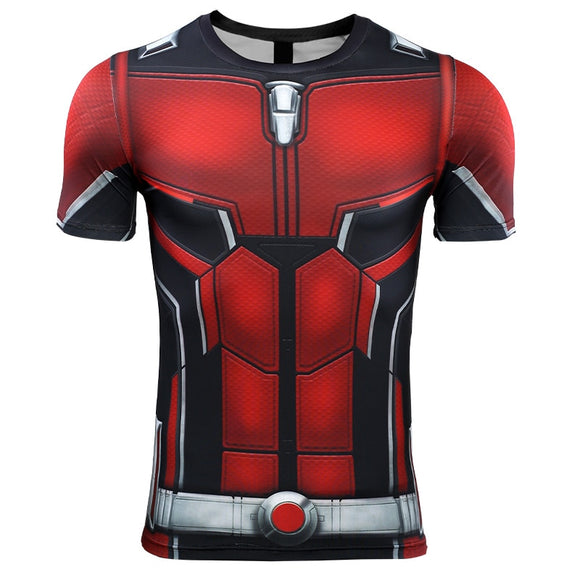 Ant Man 3D Printed T shirts Men Avengers 4 Endgame Compression Shirt Cosplay Costume Tigths Short Sleeve Tops For Male - BFJ Cosmart