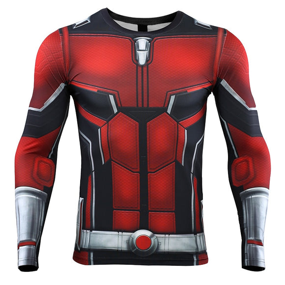 88a5894ca5108 Ant Man 3D Printed T shirts Men Avengers 4 Endgame Compression Shirt  Cosplay Costume Tigths Long
