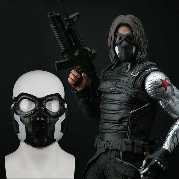 Captain America: Civil War Cosplay The WINTER SOLDIER Bucky Barnes Mask Blinkers Avengers Halloween Party Props - BFJ Cosmart