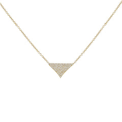 14k Yellow Gold Pave Diamond Necklace 0.27cts