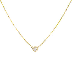 "18"" Diamond-by-the-Yard Solitaire Necklace in 14k Yellow Gold"