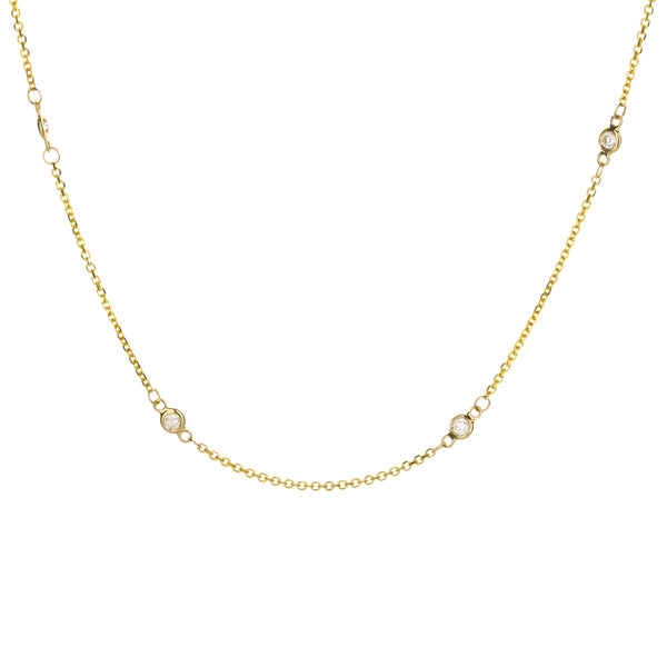 "18"" Diamond-by-the-Yard Necklace in 14k Yellow Gold"