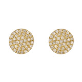 Pavé Diamond Stud Earrings in Yellow Gold