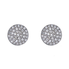 Pavé Diamond Studs in White Gold