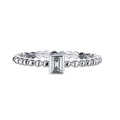 14k White Gold Baguette-cut Diamond Ring 0.10 carats