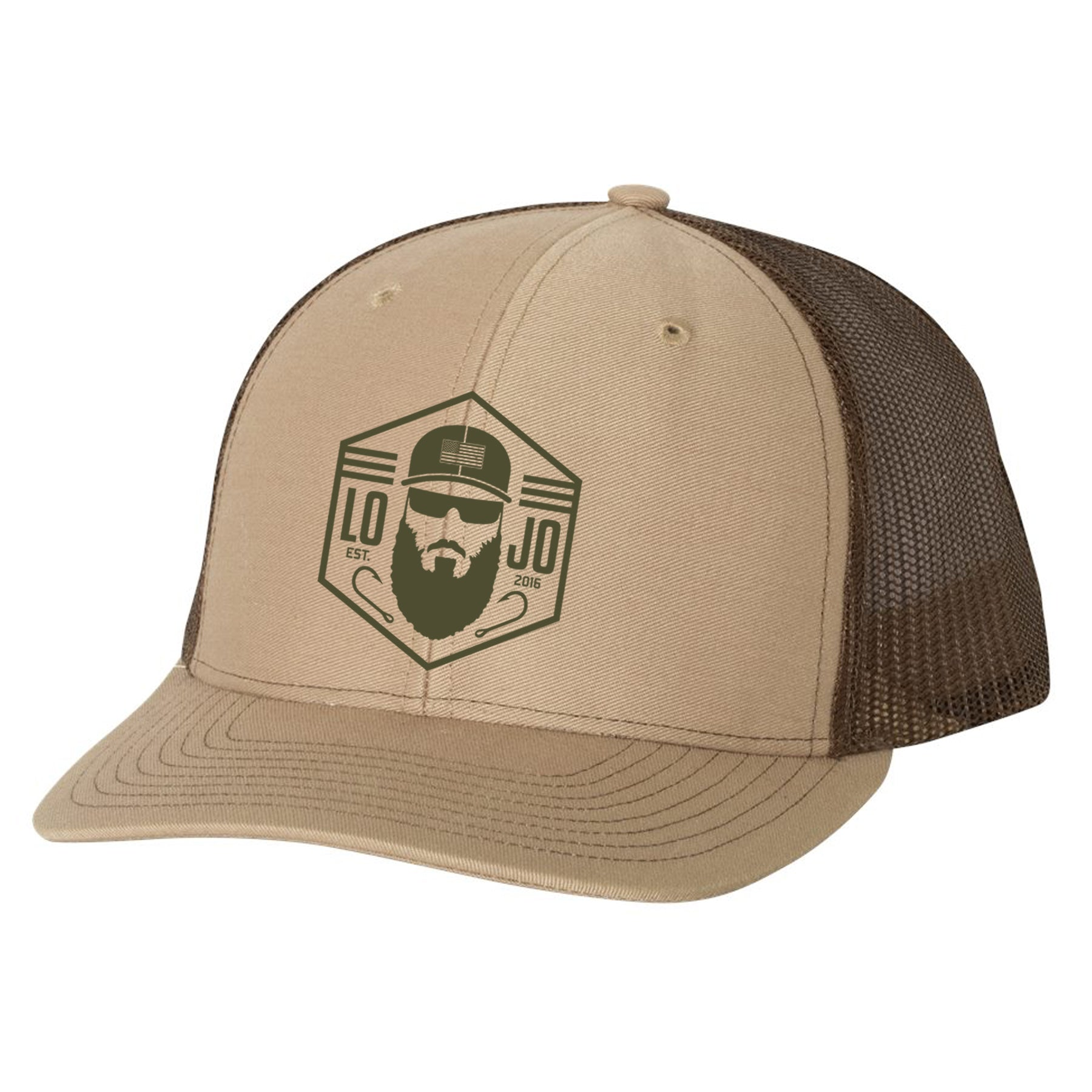 LOJO Fishing Khaki Trucker Hat
