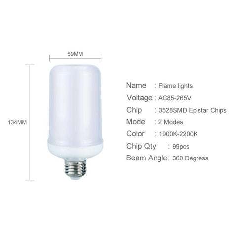 Image of LED Bulbs & Tubes - Flame Effect LED Bulb