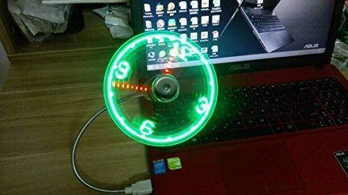 USB Gadgets - LED USB CLOCK FAN