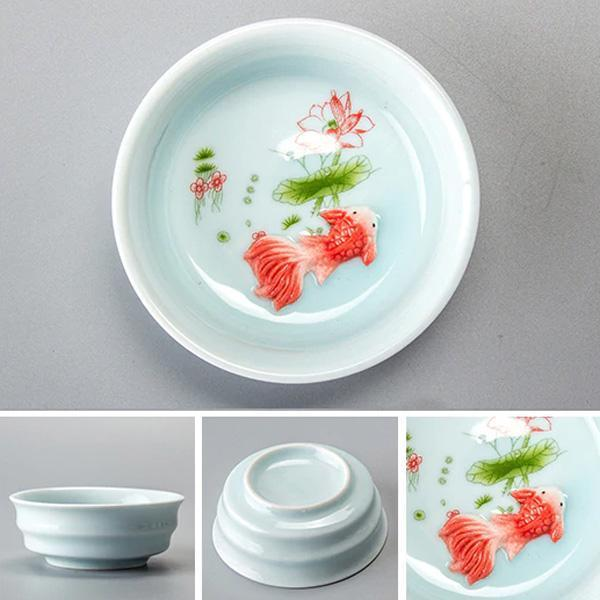 Teacup - Koi Fish Porcelain Teacup (Various Colors & Sizes)