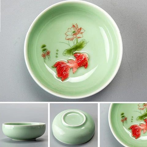 Image of Teacup - Koi Fish Porcelain Teacup (Various Colors & Sizes)