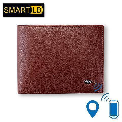 Wallets - Genuine Leather Smart Wallet - Alarm, GPS, Bluetooth, Anti-Theft