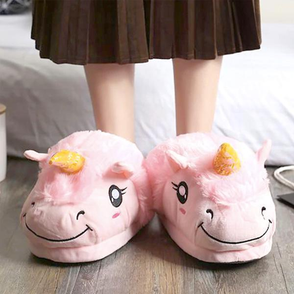Slippers - Unicorn Plush Slippers (Various Colors & Sizes)