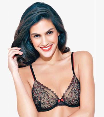 Enamor DB18 Lace Bra - Padded • Wired