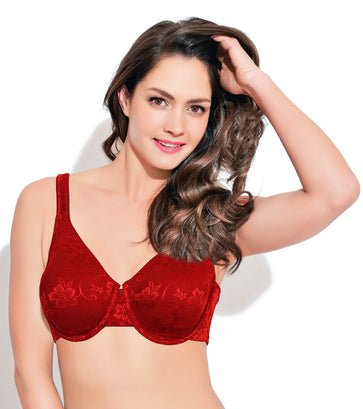 f24a9db9aa Enamor F035 Full Support Lace Bra - High Coverage • Non-Padded • Wired