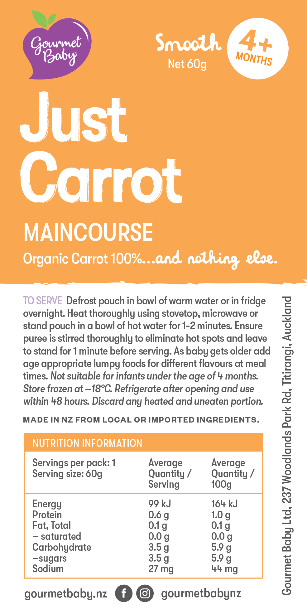 Just Carrot Maincourse x 4 pack - Coming Soon