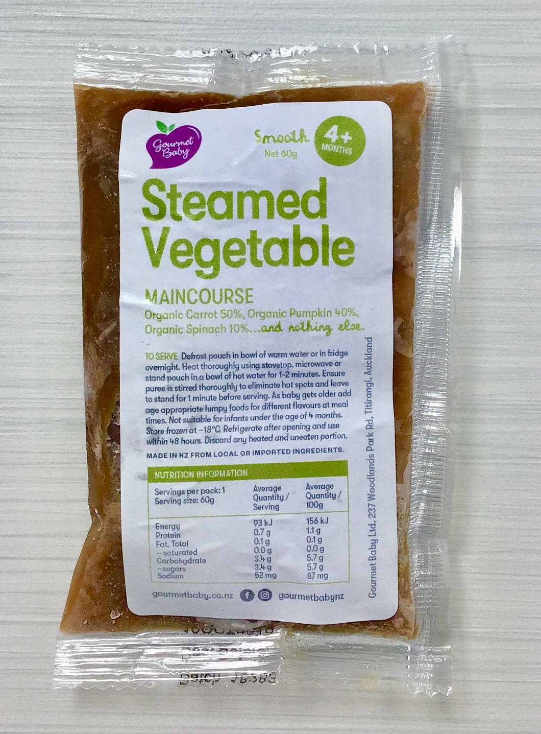 Steamed Vegetable Maincourse x 4 Pack