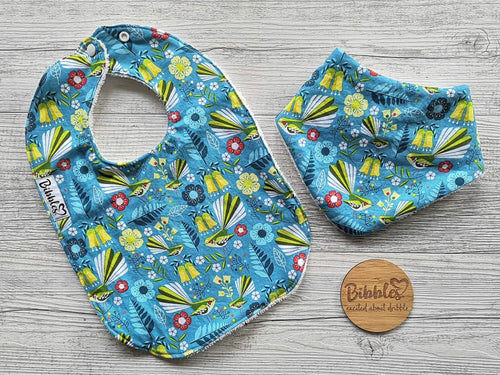 First Dribble Bib - Piwakawaka