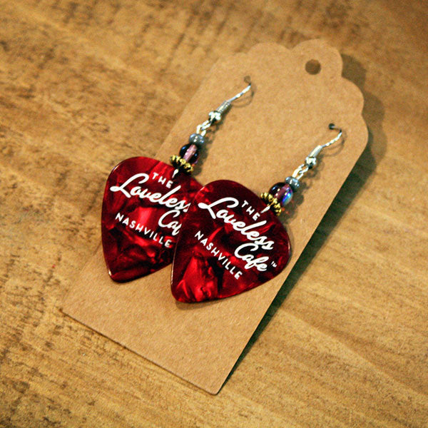 Loveless Cafe Nashville TN Guitar Pick Earring