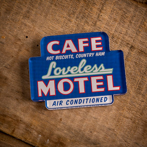 Loveless Cafe Magnet - Motel Sign design
