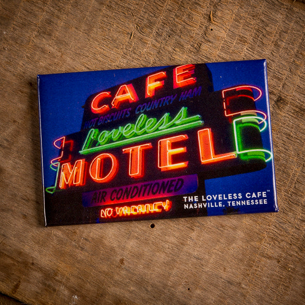 Loveless Cafe Neon Logo Night Magnet
