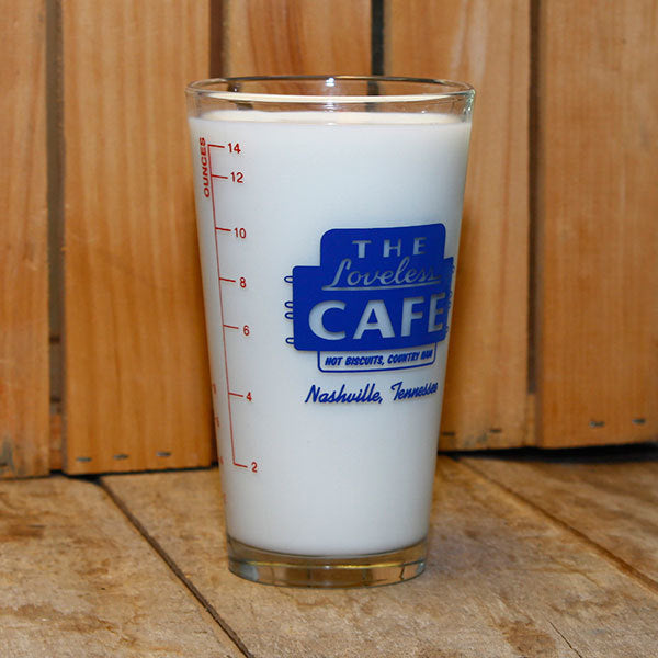 Loveless Cafe Measuring Pint Glass