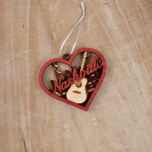 Heart Nashville Ornament