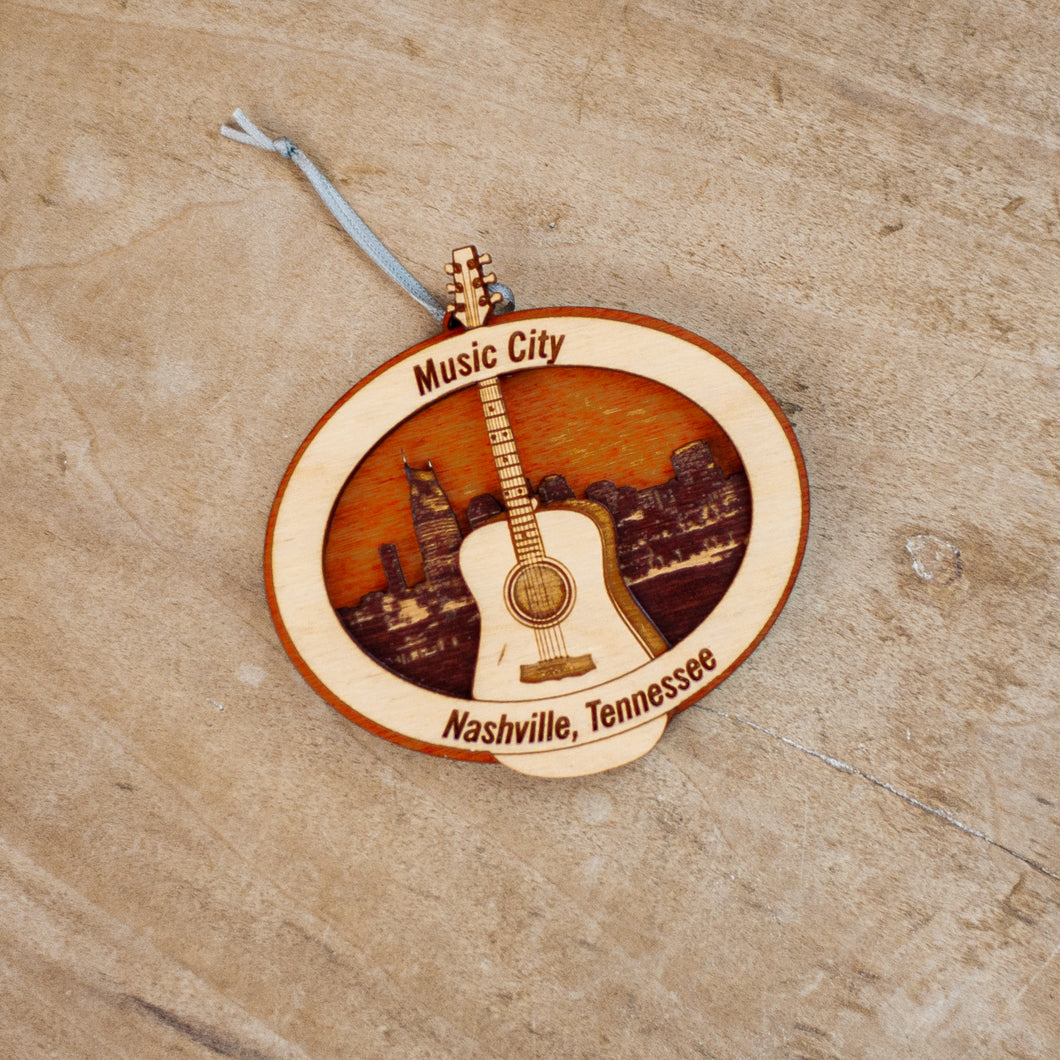 Music City Ornament with Skyline