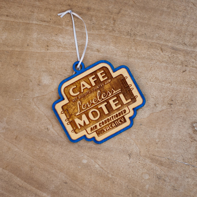 Cafe Sign Wooden Ornament
