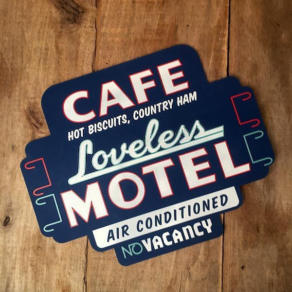 Loveless Cafe Silicone Trivet - Motel Sign design