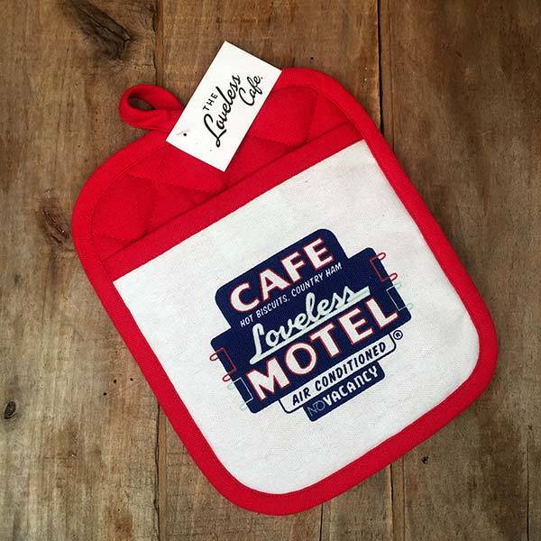 Loveless Cafe Pot Holder - Motel Sign design
