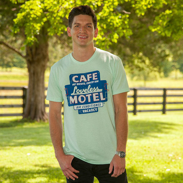 Loveless Cafe Motel Sign Tee Shirt - Mint