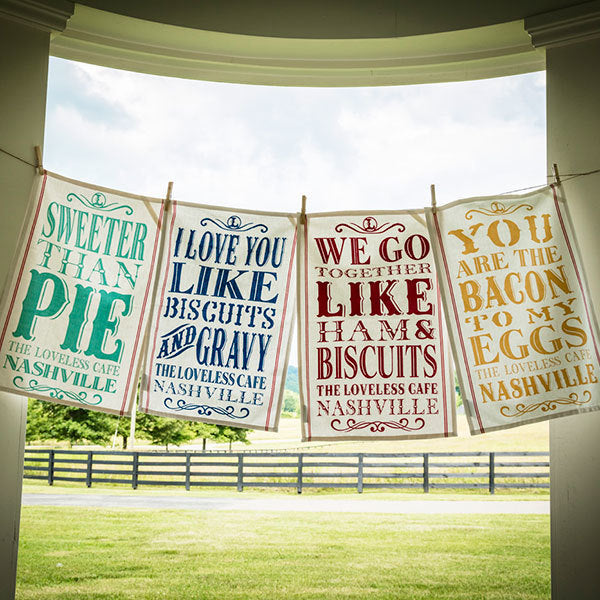Sweet Sentiment Tea Towels - Set of 4