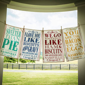 Sweet Sentiment Towels-Individual