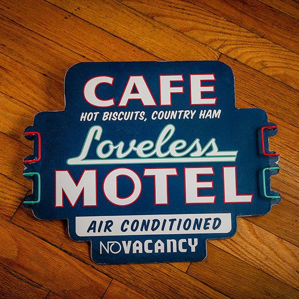 Loveless Cafe Tin Motel Sign