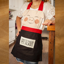 Load image into Gallery viewer, Cute 'Don't Go Bacon My Heart Piggy' Apron For Kids