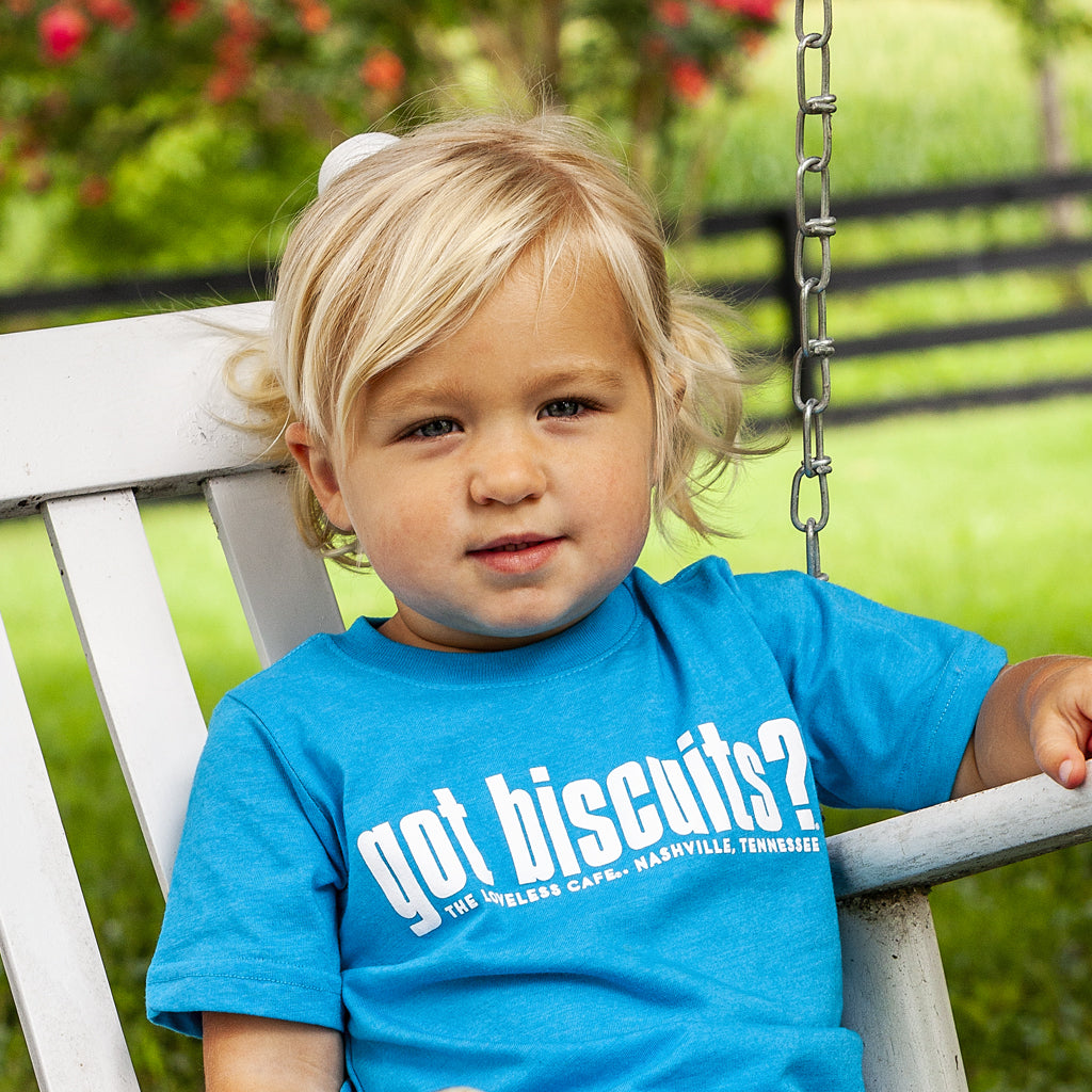 Turquoise Got Biscuits Toddler Tee