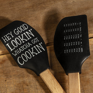 Rubber Kitchen Spatula With Cooking Measurement Conversion Chart