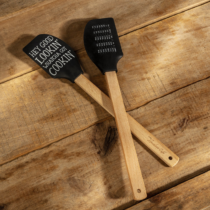 Loveless Cafe Hey Good Lookin' Whatcha Got Cookin' Kitchen Spatula With Measurement Table