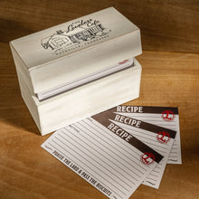 Load image into Gallery viewer, Loveless Cafe Illustration Wood Recipe Box With Recipe Cards