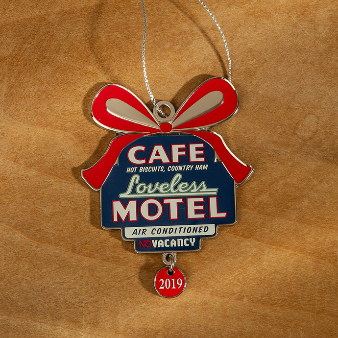 Loveless Cafe Motel Sign Christmas Holiday Ornament