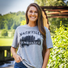 Load image into Gallery viewer, Nashville Tennessee Guitar Skyline T-Shirt