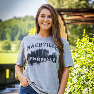 Nashville Tennessee Guitar Skyline T-Shirt