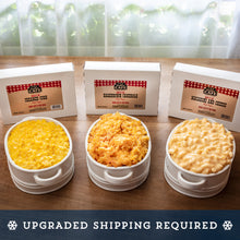 Load image into Gallery viewer, frozen gourmet side dishes - creamed corn, hashbrown casserole, mac and cheese