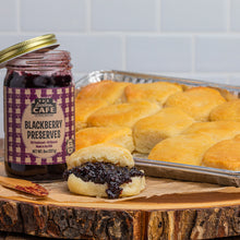 Load image into Gallery viewer, southern style biscuits with blackberry jam