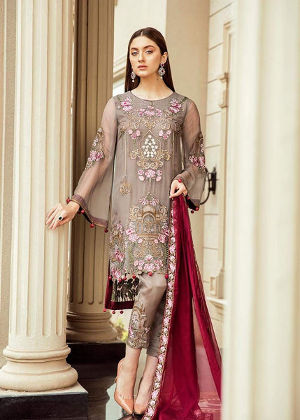 STYLE LOFT.PK Afrozeh Espoir Collection 2019 Embroidered Chiffon Unstitched 3 Piece Suit