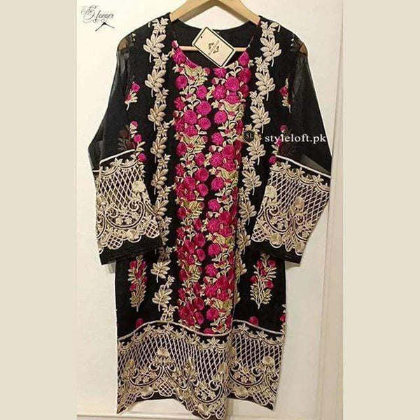 STYLE LOFT.PK Agha Noor Black Embroidered Lawn 2Piece Kurta